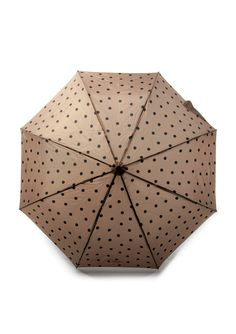 Moov Culture - Jane polka dot umbrella in taupe