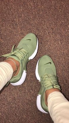 green sneakers - love the color