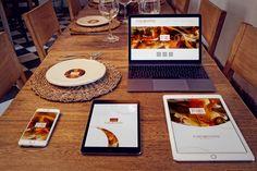 iPhone 6, iPad Mini 3, iPad Air 2, Macbook, Dish Mockup by 4to Pixel on @originalmockups