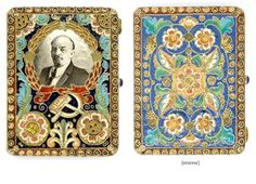 Russian enamel cigarette case--what a muddle--- First quarter Hammer And Sickle, Vibrant Colors, Colours, Grisaille, Cigarette Case, Viking Jewelry, Silver Enamel, Vikings, Glass Art