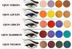 Según tu color de ojos existirá un color de sombra que lo resaltará y otra que lo opacará, por ejemplo las personas de ojos azules no deben usar sombras azules si lo que quieren es resaltar el color de su iris.