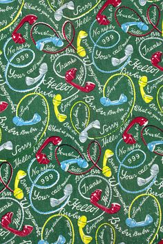 Vintage Home - Rare and Fabulous 1950s Towelling Fabric.