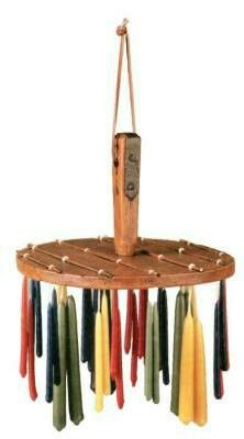 """CANDLE DIPPER  Layer by wax layer, the wicks would disappear into chubby tapers that would illuminate an evening and show the way to bed. A charming way to store handdipped candles. Faux wood treenware. 5.5 x 8""""  Please Select: Dipper $29.95 Now Only, #i12160 $24.99 ($32 retail)  Candles, #i16502 $29.95 /16 asst."""
