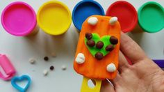 DIY How to Make Play Doh Ice Cream Popsicle Modelling Clay Learn Colors ...