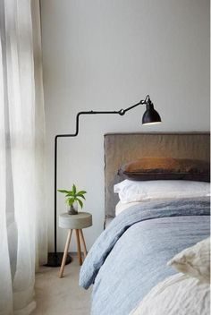 Love this beautiful bedroom designed by 👌🏻 Lampe Gras floor lamp available to order in our online store ✨ . Small Bedroom Interior, Master Bedroom Design, Home Interior, Home Bedroom, Bedroom Decor, Interior Design, Bedroom Interiors, Interior Paint, Modern Interior