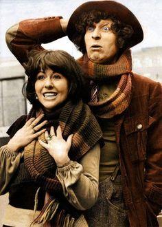Tom Baker and Elizabeth Sladen.