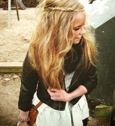 hair braid + jacket.