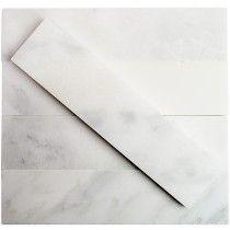 Brushed Stone Asian Statuary 2x8 Marble Tile