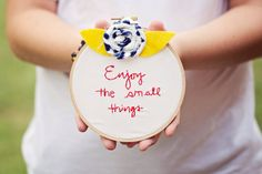 enjoy the small things embroidery embroidery by SentimentalSundays, $20.00