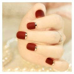 30 Amazing Idea For Short Nails Designs ❤ liked on Polyvore featuring beauty products and nail care