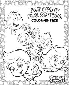bubble guppies free back to school coloring pack