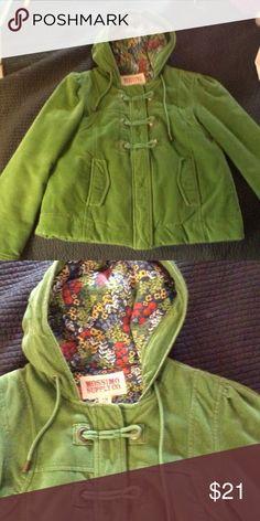 Beautiful fall coat Sz med green coat. Great shape Mossimo Supply Co Jackets & Coats