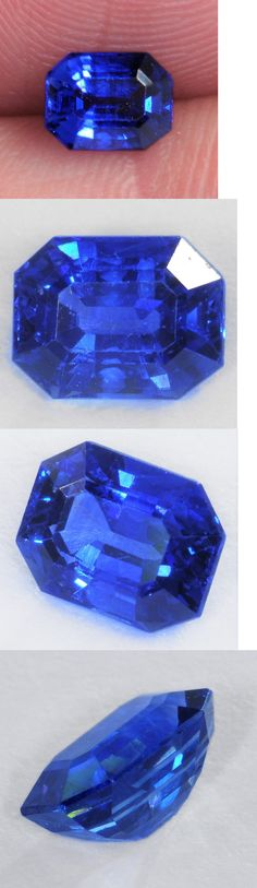 Natural Sapphires 4644: 1.2 Carat Natural Mined Perfect Royal Blue Sapphire - 6.5 X 5Mm Emerald Cut Gem! -> BUY IT NOW ONLY: $399.5 on eBay!