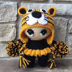 Cheerleader Big Head Baby Doll by CreationsByMHaner on Etsy