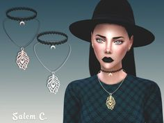 Plume Necklace at Salem2342 via Sims 4 Updates