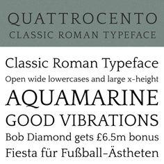 Quattrocento classic roman typeface #free #font