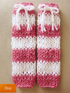 Easy Knittin Patterns: 2. Striped Baby Leg Warmers