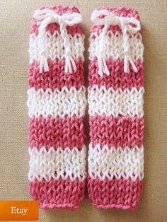 Easy Knittin Patterns: 2. Striped Baby Leg Warmers