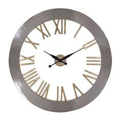 Ceas de perete rotund Richmond Derax D 90cm Richmond Interiors, Roman Numerals, Minimalist Fashion, Minimalist Style, Devon, Industrial Style, Interior Decorating, Clock, House Design