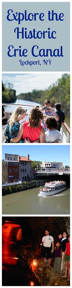 """The Erie Canal in Lockport, NY has so much to see and do. Take a boat ride and go through the only set of working """"Locks"""", explore the magnificent underground caves, go ziplining over the canal, or relax with some food & wine at one of the many wineries or restaurants."""