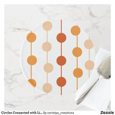 Circles Connected with Lines Oranges Cake Stand Party Plates, Kitchen Dishes, Fancy Cakes, Party Accessories, Custom Cakes, Let Them Eat Cake, It's Your Birthday, White Ceramics, Circles