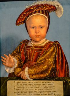 Hans Holbein the Younger - Edward, Prince of Wales, 1538 at Denver Art Museum - Denver Colorado