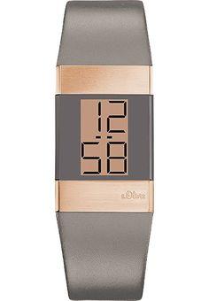 s.Oliver - SO-2950-LD - Montre Femme - Quartz Digitale - Bracelet Cuir Gris