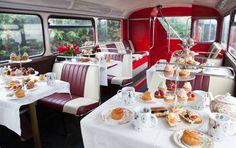 london bus afternoon tea