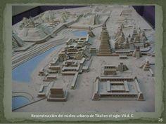 28  Reconstrucción del núcleo urbano de Tikal en el siglo VII d. C.