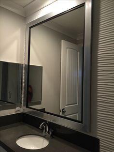 Custom Silver Framed Mirror Bathroom Westframes