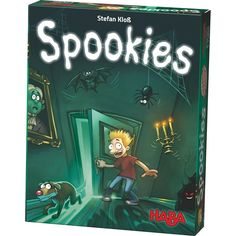This is Spookies The Board Game. The haunted house looks even scarier than usual in the light of the full Moon. But the four brave friends and their dog dare to enter the haunted house. Who dares to c