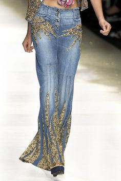 runway embellished denim ♥✤ | Keep the Glamour | BeStayBeautiful...really cool!  HotWomensClothes.com
