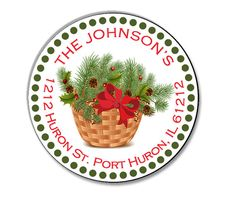 Holiday Gift Labels Personalized  Address Label by CustomPhotoPics, $5.50