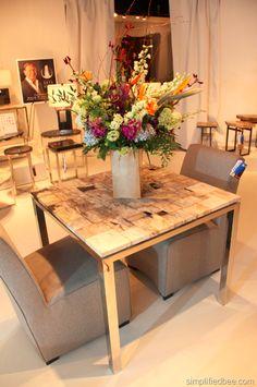 Palecek -mosaic petrified wood table
