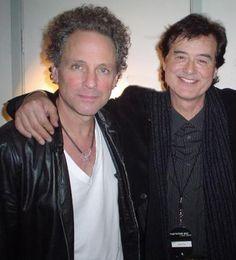 Lindsey Buckingham & Jimmy Page Lindsey Buckingham, Stevie Nicks Fleetwood Mac, Rockn Roll, Jimmy Page, Great Bands, Jimi Hendrix, Led Zeppelin, Music Lyrics, Rock Music