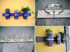 Make your own hanging herb containers
