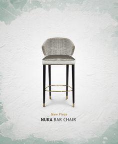 NUKA Bar Chair by BRABBU | Upholstered Bar Stools. Bar Chairs. Modern Chairs. Restaurant Interior. #restaurantinteriors #barchair #barstool Read more: https://www.brabbu.com/en/inspiration-and-ideas/world-travel/sophisticated-upholstered-bar-stools-want