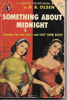 D B Olsen Something About Midnight Pulp Mystery Pocket Books 1951 paperback