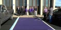 Just like a handicap spot, these purple parking spots are IMPORTANT! | From eternallyfantasticpictures