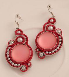 Purple soutache earrings