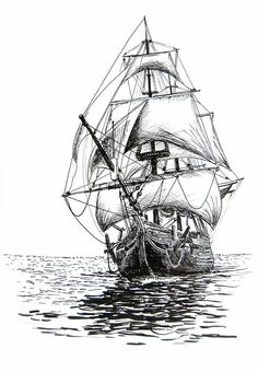 ship sketch picture pirate ship by winstonscreator on deviantart ships pinterest crayon. Black Bedroom Furniture Sets. Home Design Ideas