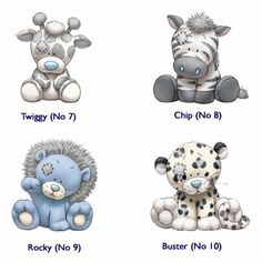 My Blue Nose Friends . Tatty Teddy, Teddy Bear, Blue Nose Friends, Cute Animal Drawings, Cute Drawings, Baby Animals, Cute Animals, Belly Painting, Baby Art