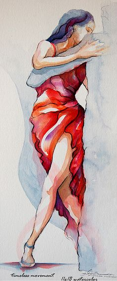 "Painting : ""flamenco dancer"" (Original art by segismundoart) Watercolor Dancer, Watercolor Animals, Watercolor Paintings, Dancer Drawing, Painting & Drawing, Dancing Drawings, Art Drawings, Tango Art, Original Art"