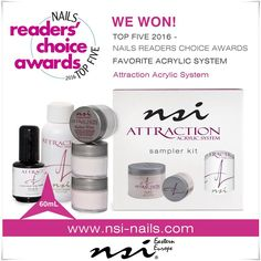 Top 5 NAILS Readers Choice Awards 2016 Favorite Acrylic System