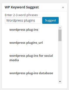 Essential WordPress Plugins - Keyword Suggest