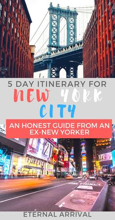 Wondering what to do with 5 days in New York? This itinerary covers Manhattan Brooklyn and Queens (with a mini side trip to Staten Island) and is the comprehensive result of over 9 years experience living in NYC. Usa Travel Guide, Travel Usa, Travel Tips, Canada Travel, Travel Advice, Travel Destinations, Central Park, Empire State Building, Queens New York