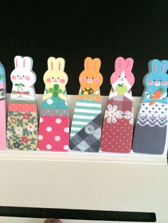 Bunny Rabbit Sticky Notes Tabs by Glitteryjem on Etsy