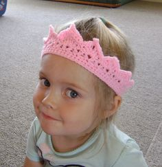 Crochet Toddler Princess Crown - wonder if i can make it adult sized!