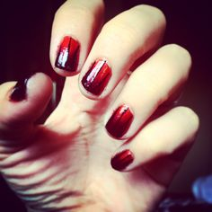 Nail design, nail art, ombré nails, orange and black Opi, Halloween