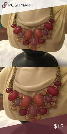 "Lucies pink necklace Ex.condition 10"" adjustable length lucies Jewelry Necklaces"